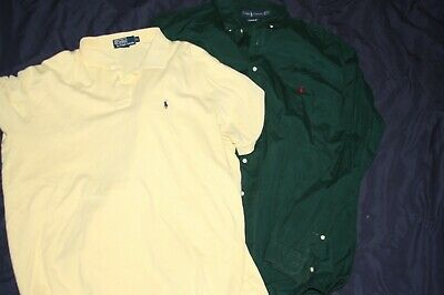 Lot of 2 Polo by Ralph Lauren Mens XL POlo Shirts Pony Logo 100% Cotton XLT