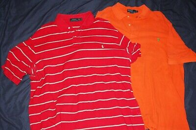 Lot of 2 Polo by Ralph Lauren Mens 2XLT POlo Shirts Pony Logo 100% Cotton