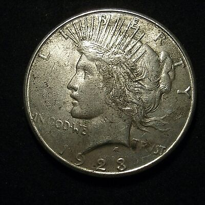 US Peace Dollar 1923-S in XF40 - remnant lustre both sides -