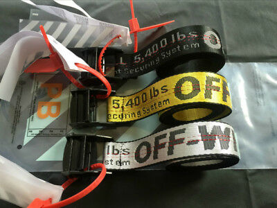 2019 OFF WHITE Tie Down Nylon Cotton IRON Head Industrial Belt 120/150/200cm
