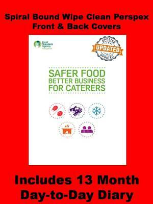 SFBB Food Safety Hygiene System for Caterers Book & Diary Restaurants Takeaways