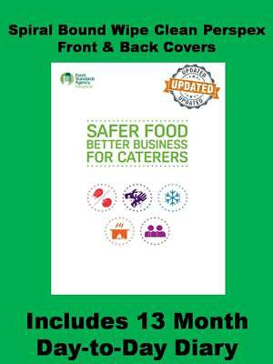 Safer Food Better Business for Caterers Record Book Diary Restaurants Takeaways