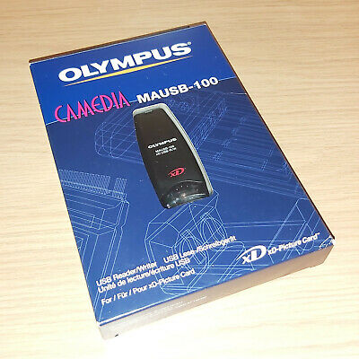 Olympus Camedia MAUSB-100 USB Flash Card Reader Dongle New Complete Unused Boxed