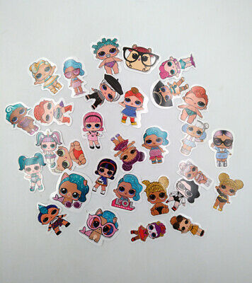 LOT 30pcs LOL Surprise Doll Stickers Luxe Unicorn Gift Big Sister Queen PUNK BOI