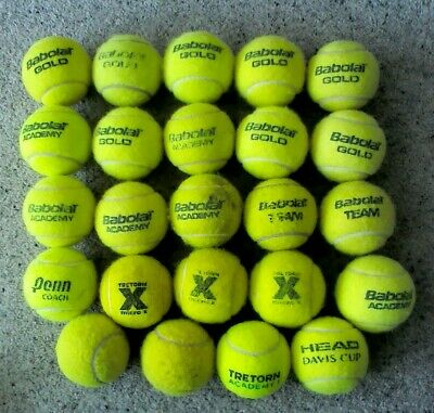 24 Used Tennis Balls (Mixed Brands) - Dog Toys