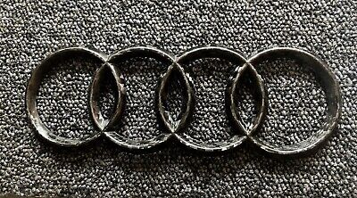 Audi Logo Carbon Fibre Boot Badge RS4, RS6, A3, RS3, S4, S5, RS5, RS7, S6 £10.99