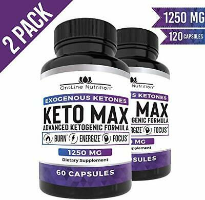 BEST KETO PILLS (2Pack/120caps) Advanced Keto Burn Diet Pills w/ MCT Oil Powder!