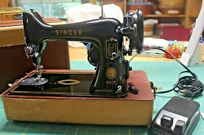 Vintage Singer 99- 1955 Sewing Machine Professionally SERVICED Case/Foot Ped