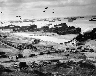 """U.S. Forces landing on Omaha Beach Normandy D-Day 8""""x 10"""" WWII WW2 Photo 288"""