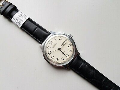 Watch Slava 26 Jewels Soviet Ussr S Russian Mechanical Mens Rare Vintage Old