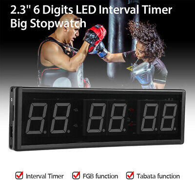 """2.3"""" LED Programmable Timer Big Stopwatch Training FGB function Fitness Gym Yoga"""