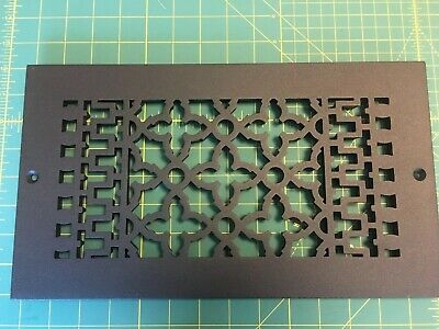 Antique Victorian Style Cast Iron Floor Grille 1984 Reggio Register Co. # 814