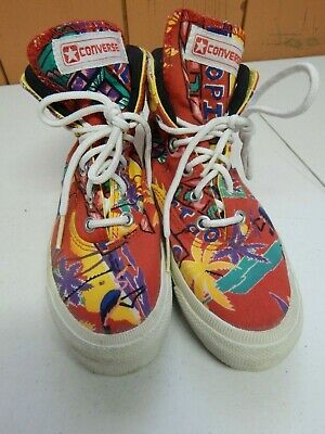 Converse Vintage Tropical Tropic Beach High Tops Sneakers kids Youth Size 1.5