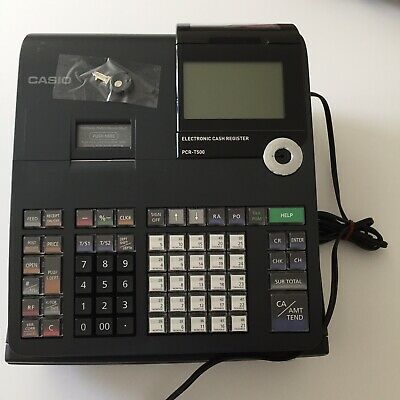 Lightly Used Casio PCR-T500 Electronic Cash Register - Black