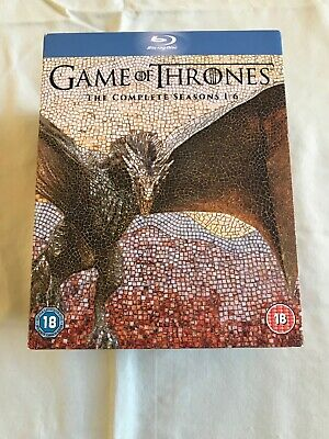 Game of Thrones: The Complete Seasons 1-6 (Blu-ray 29 Disc Set, 2016) *LIKE NEW*