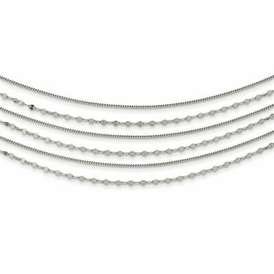 """Sterling Silver Beaded Layered With 1"""" Extension Necklace, 16.5"""" MSRP $208"""