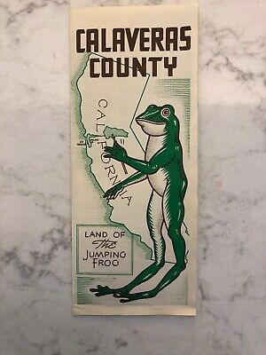 """Calaveras County """"Land of The Jumping Frog"""" Brochure"""