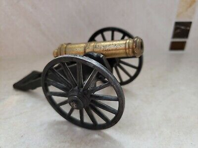 Vintage Cast Iron & Brass Cannon MFCO 1/31 Cannon Replica Cast Iron Toy Cannon