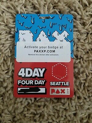 PAX West / PAX PRIME 2019 4 Day Pass Badge, FRIDAY, SATURDAY, SUNDAY, MONDAY