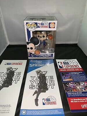 Disney Springs NBA Experience Mickey Mouse Funko Pop In Hand **See Description**