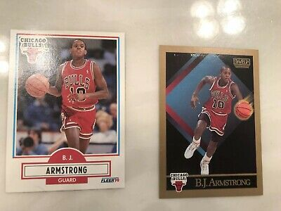 1990 Fleer 22 Bj Armstrong Chicago Bulls Rookie Card 499