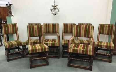 Antique French Oak Dining Chairs 8 Eight Renaissance BK100