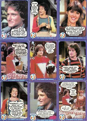 Mork & Mindy - Complete 99 Trading Card Set - 1978 Topps - NM