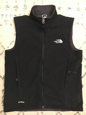 The North Face Mens Apex Softshell Vest Black Size Small Good Condition! D1