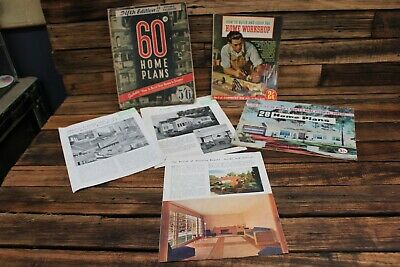 Vintage Home Plans Design Books House Women's Weekly Architecture Carpentry Tool