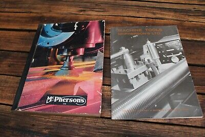 2 Vintage McPherson's Tool Catalogues Machine 1966 Old Engineering Mechanic