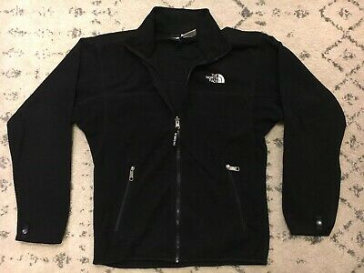 The North Face Full Zip Fleece Jacket Sweater Mens Size Small Black Vintage! D1