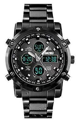 Mens Digital Sports Watch Military Waterproof Analogue with Alarm/Dual Time/Coun