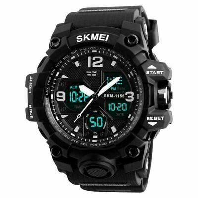 Men Sport Watches,Digital Analogue Sports Mens Military EL Light Stopwatch 50M W