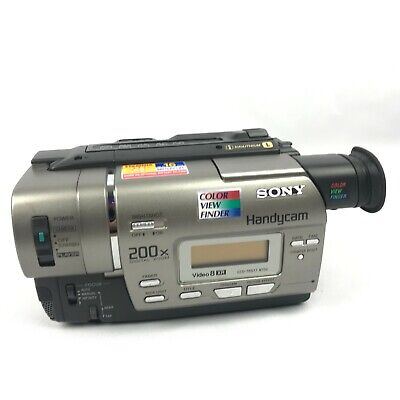 Sony Handycam CCD-TR517 Video8 XR Camcorder Player Video Transfer Camera Tested