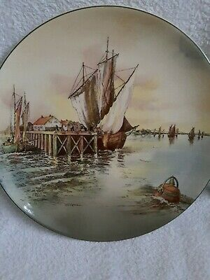 "Royal Doulton Display Plate - ""Home Waters"" D 6434"