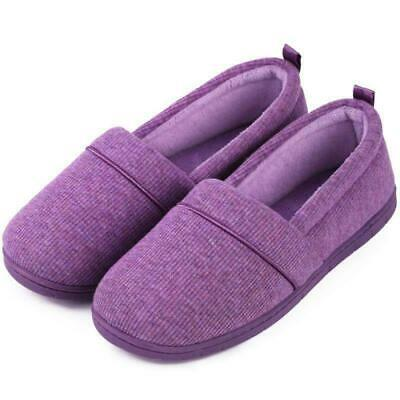 Ladies' Memory Foam Comfort Cotton Knit House Shoes Light Weight Terry Cloth Loa