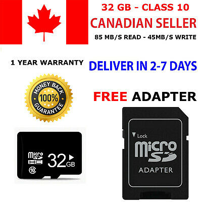 Micro SD Card 32GB High Speed SDXC SDHC Flash TF Class 10 32 GB Adapter