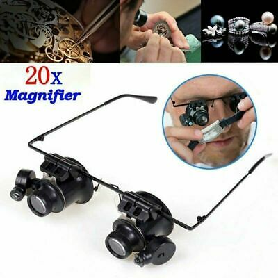 Magnifier Magnifying 20X Eye Glass Loupe Jeweler Watch Repair with LED Light UK