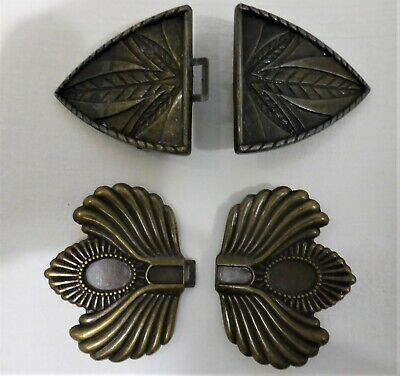 Retro Vintage Art Deco Style Metal Belt Buckles X 2