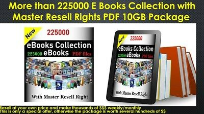 225,000+ Ebooks Collection with Master Resell Rights PDF 10GB Package With Bonus
