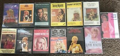 Tammy Wynette. Collection Of 13 Music Cassette Tapes Vg Condition Cg