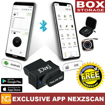 A++ OBDII Scan Tool Check Engine Code Reader Bluetooth BlueDriver w/ Carry Case