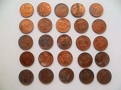 One pc. of Singapore 1989-2001 Brunei Plant one 1 cent used coin (SC-92)