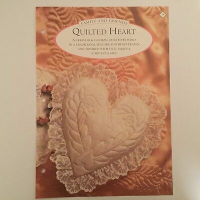 Needlework pattern: Quilted heart cushion design and instructions