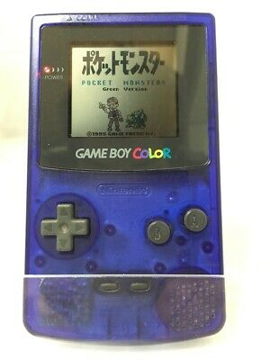Nintendo Game Boy Color Midnight Blue color Console Good Condition from Japan