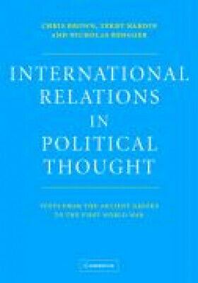 International Relations in Political Thought: Texts from the Ancient Greeks to
