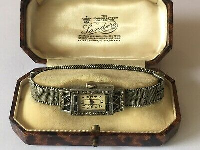 An Antique Late Edwardian / Art Deco Cocktail Watch In Box
