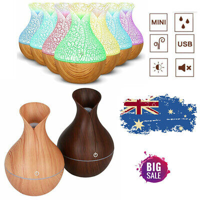 Essential Oil Ultrasonic Humidifier Air Aroma Diffuser Purifier Aromatherapy AU