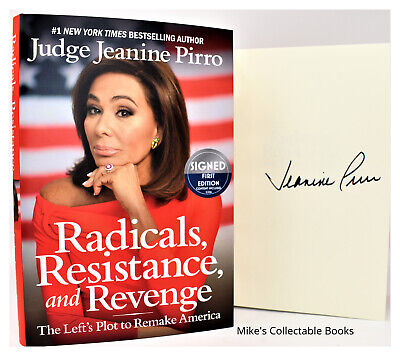 ✎✎SIGNED 1/1✎✎ Radicals, Resistance and Revenge AUTOGRAPHED Jeanine Pirro  +COA