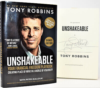 ✎✎SIGNED 1/1✎✎ Unshakeable Financial Freedom Playbook AUTOGRAPHED Tony Robbins